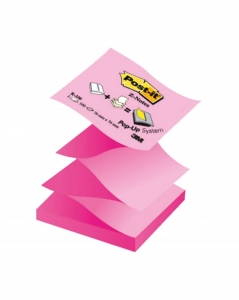 BLOCZEK SAMOP. POST-IT® Z-NOTES (R330NAP), 76X76MM, 100 KART., PASTELOWY/NEONOWY RÓŻ