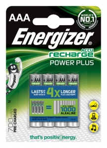 AKUMULATOR ENERGIZER POWER PLUS, AAA, HR03, 1, 2V, 700MAH, 4SZT., EN-394832