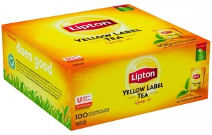 HERBATA LIPTON, YELLOW LABEL, 100 SASZETEK