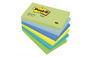 BLOCZEK SAMOP. POST-IT® (655-MTDR), 127X76MM, 6X100 KART., PALETA MARZYCIELSKA