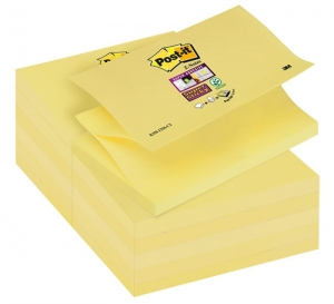 BLOCZEK SAMOP. POST-IT® SUPER STICKY Z-NOTES (R350-12SS-CY), 127X76MM 12X90 KART., ŻÓŁTY