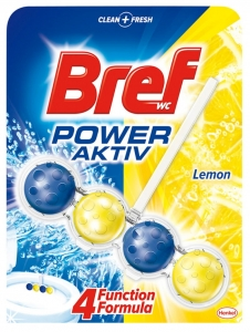 KULKI TOALETOWE BREF POWER AKTIV LEMON, 50G