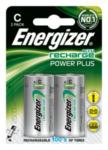 AKUMULATOR ENERGIZER POWER PLUS, C, HR14, 1, 2V, 2500MAH, 2SZT., EN-138740
