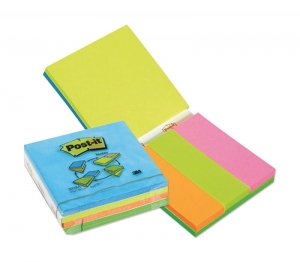MULTI KOSTKA SAMOP. POST-IT® (2028A), 3X 76X76MM, 3X 27X76MM MIX KOLORÓW