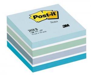 KOSTKA SAMOP. POST-IT® (2028-B), 76X76MM, 1X450 KART., NIEBIESKA
