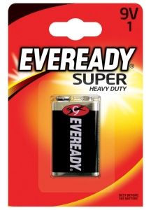 BATERIA EVEREADY SUPER HEAVY DUTY, E, 6F22, 9V, EN-227543