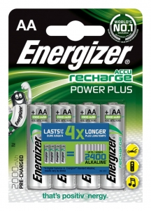 AKUMULATOR ENERGIZER POWER PLUS, AA, HR6, 1, 2V, 2000MAH, 4SZT., EN-249101