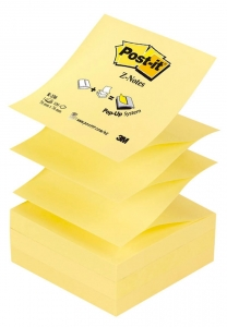 BLOCZEK SAMOP. POST-IT® Z-NOTES (R-330), 76X76MM, 100 KART., ŻÓŁTY
