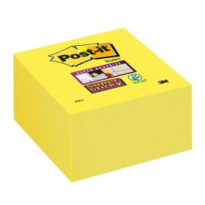 KOSTKA SAMOP. POST-IT® SUPER STICKY (2028-S), 76X76MM, 1X350 KART., ULTRA ŻÓŁTA