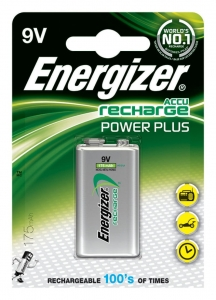 AKUMULATOR ENERGIZER POWER PLUS, E, HR22, 9V, 175MAH, EN-138771